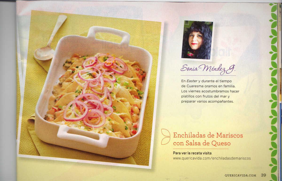 Enchiladas de Mariscos Que Rica Vida March-April 2014