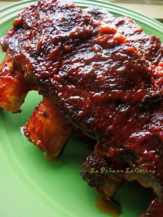 Beef Back Ribs With An Easy Barbeque Sauce