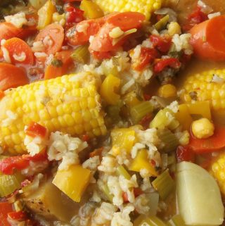Cazuela of Vegetables and Rice