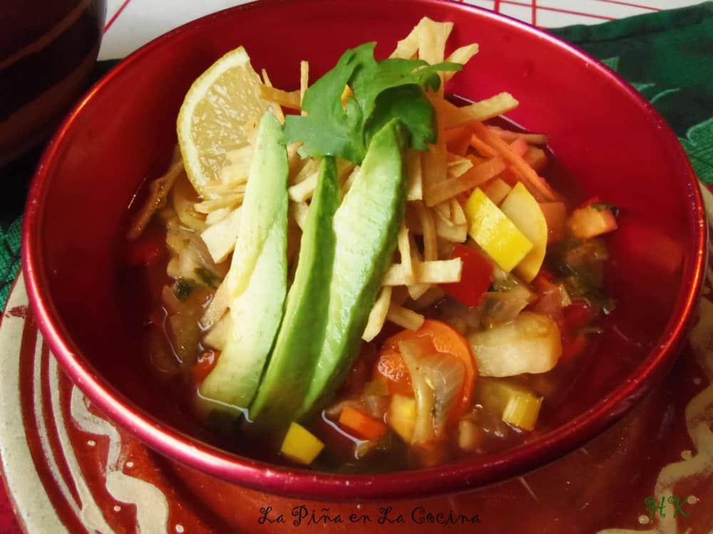 Vegetable Tortilla Soup #tortillasoup #souprecipes