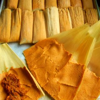 Chile Colorado Pork Tamales(Tamal de Puerco)