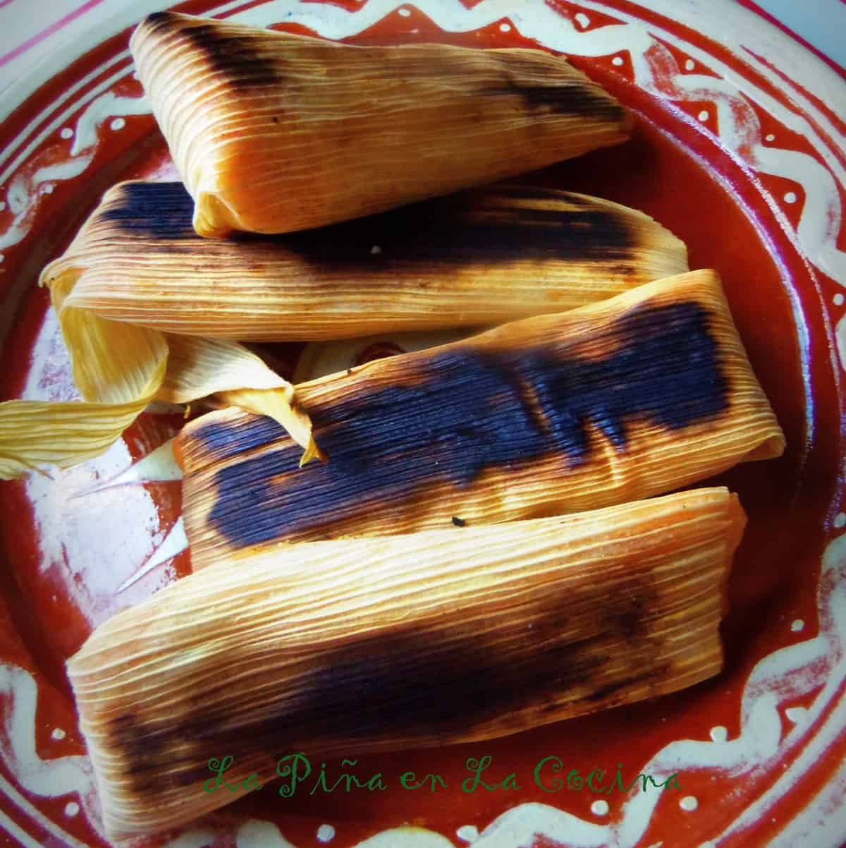 Even better than freshly steamed tamales? Charred tamales on the comal the next morning.