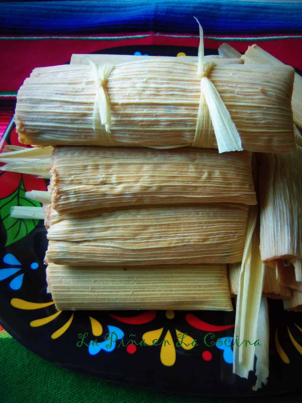 Uncooked Pork Tamales. We like to make one big tamal when we are almost done filling. I believe my cousin named this one El Borracho! LOl!