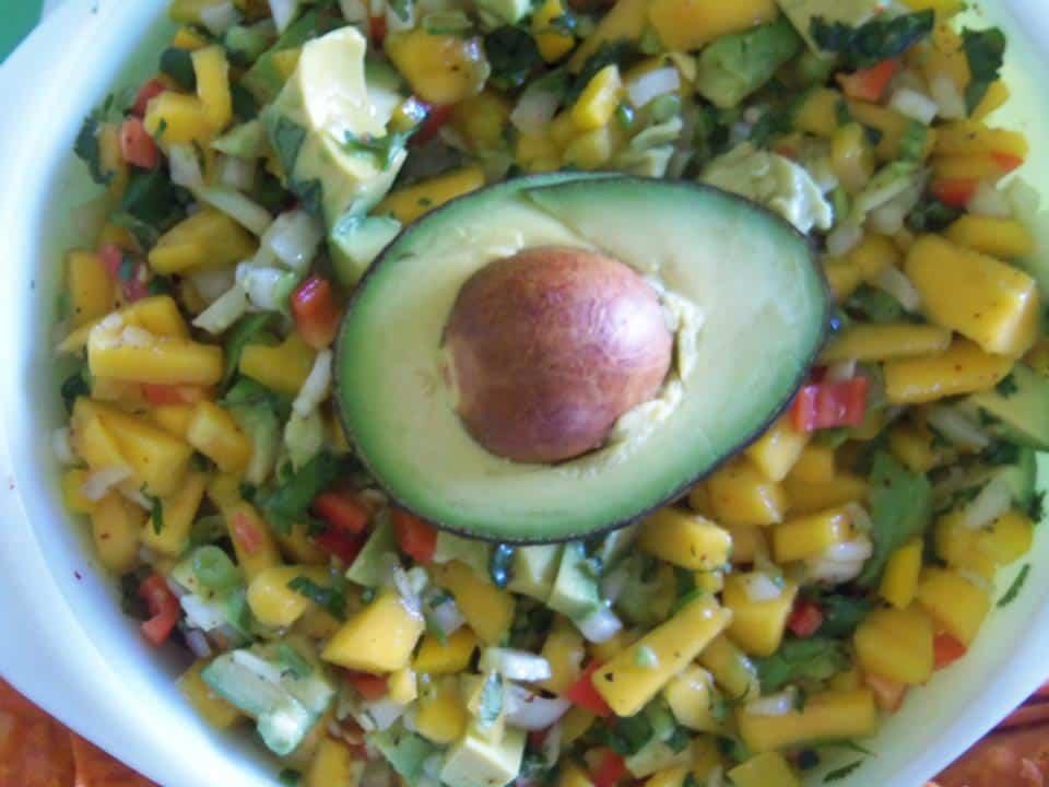 Chunky Avocado Mango Salsa