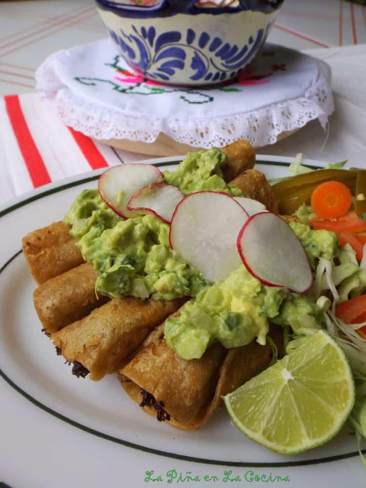Beef Flautas-Taquitos-Tacos Dorados