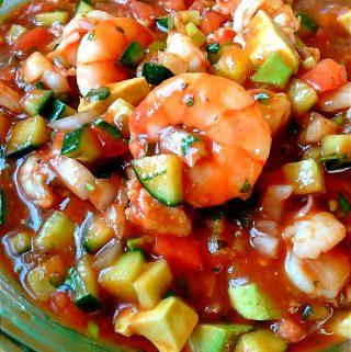 Coctel de Camarones ~ Mexican Shrimp Cocktail