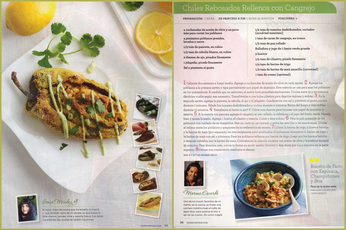 Cornmeal Crusted Relleno Stuffed with Crab Que Rica Vida May 2014 Issue