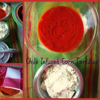 Red Chile Infused Corn Tortillas~ Tortillas Rojas