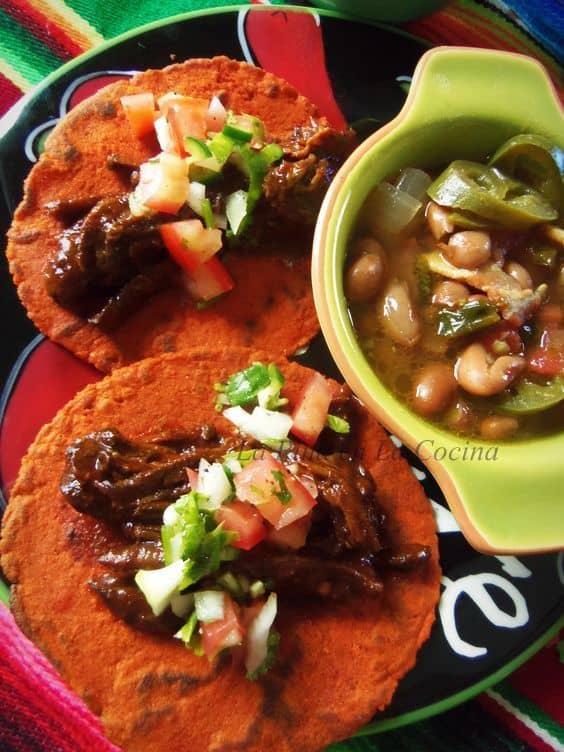 Chile Ancho Braised Beef in the Slow Cooker | La Piña en la Cocina