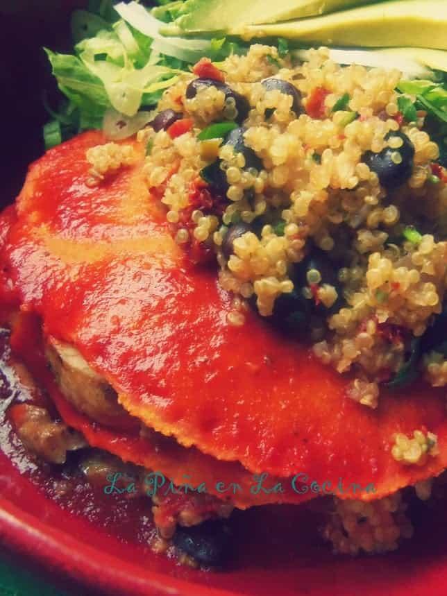 Tamal Azteca-Individual Chicken Enchilada Stack