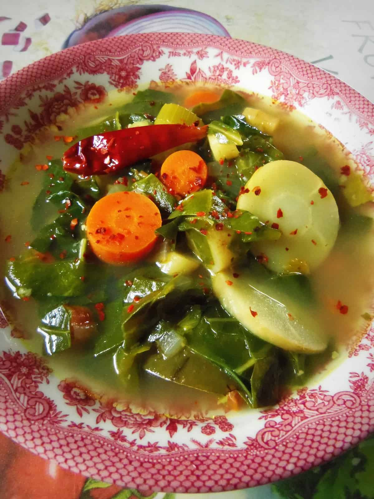 Swiss Chard Ginger Vegetable Soup