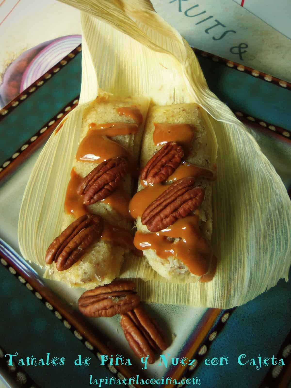 Sweet Pineapple Pecan Tamales with Dulce de Leche