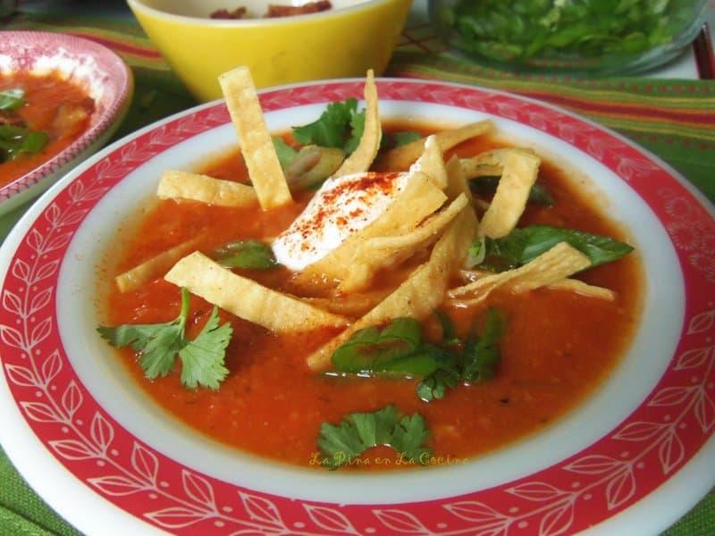 Tomato Tortilla Soup