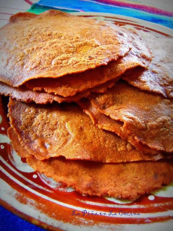 Tortillas Rojas Chile Pasilla