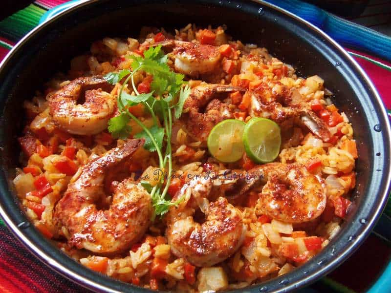 Arroz Con Camarones-Chile Limon Shrimp and Rice