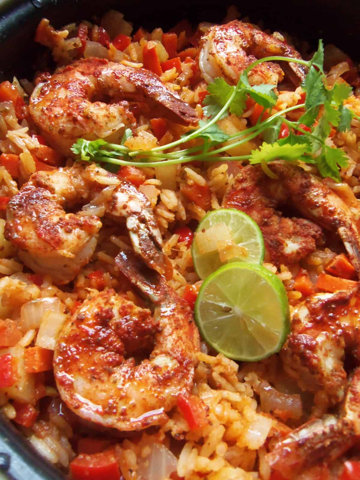 Chile Limon Shrimp and Rice