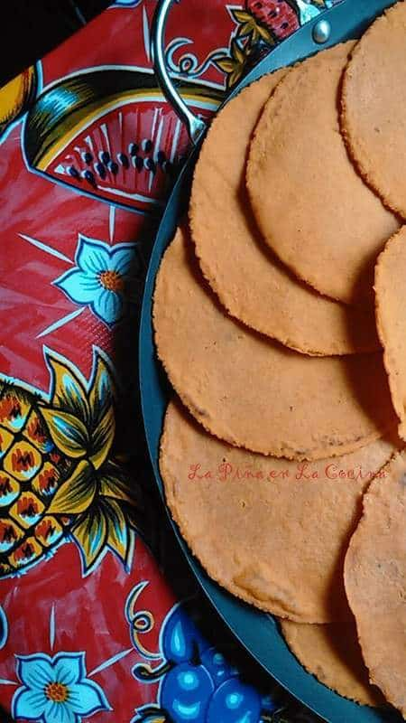 Red Chile Infused Corn Tortillas