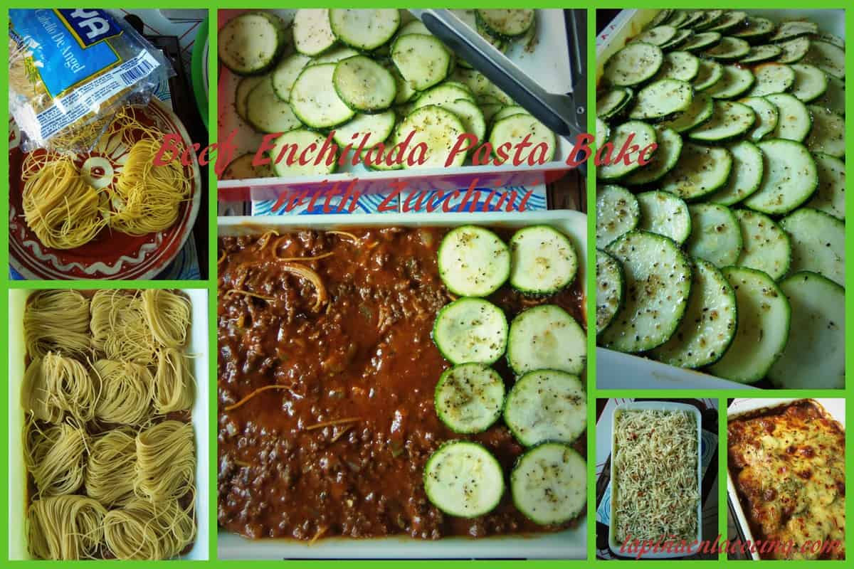 Beef Enchilada Bake with Zucchini