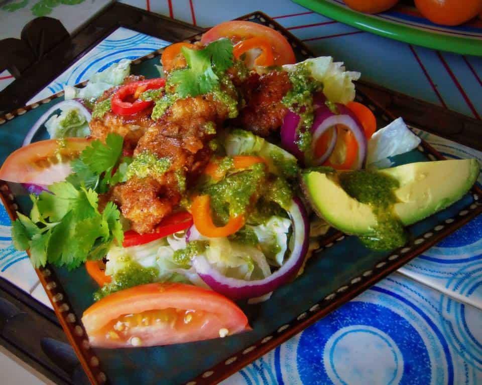 Enjoyed the crunchy tenders on a big salad