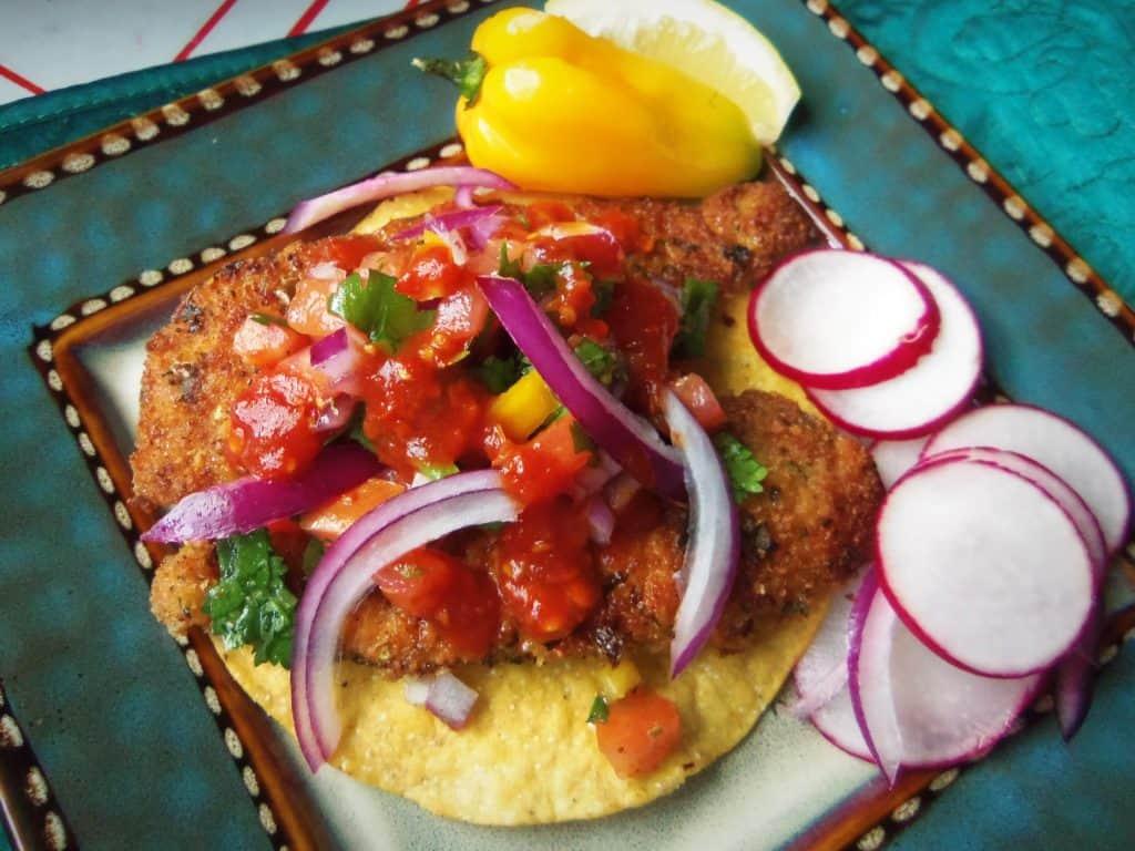 Tostadas de Pescado~Crispy Fish Tostadas