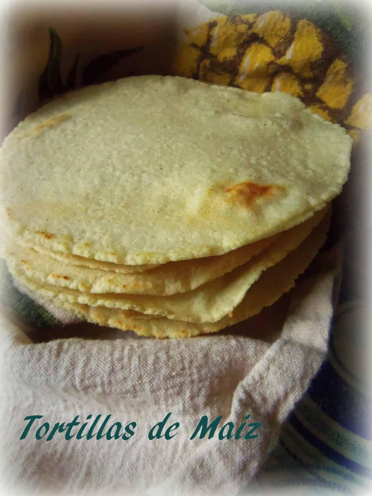 Tortillas de Maiz Hechas con Masa Harina