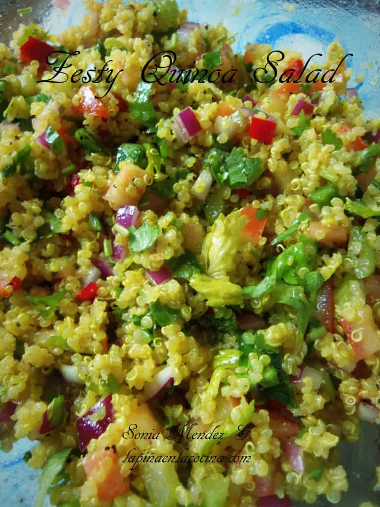 Zesty Quinoa Salad with red Wine Vinaigrette