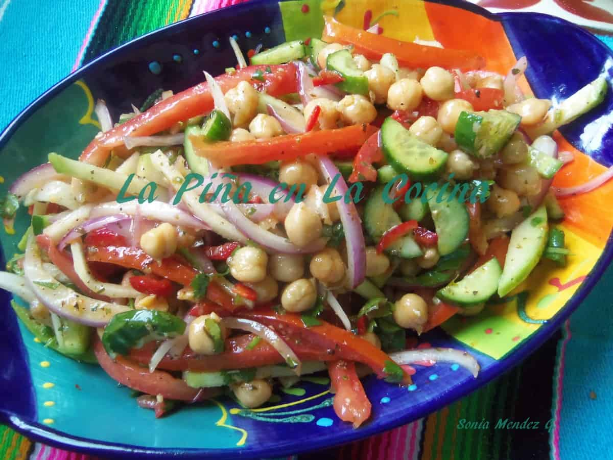 Chick Pea and Cucumber Salad