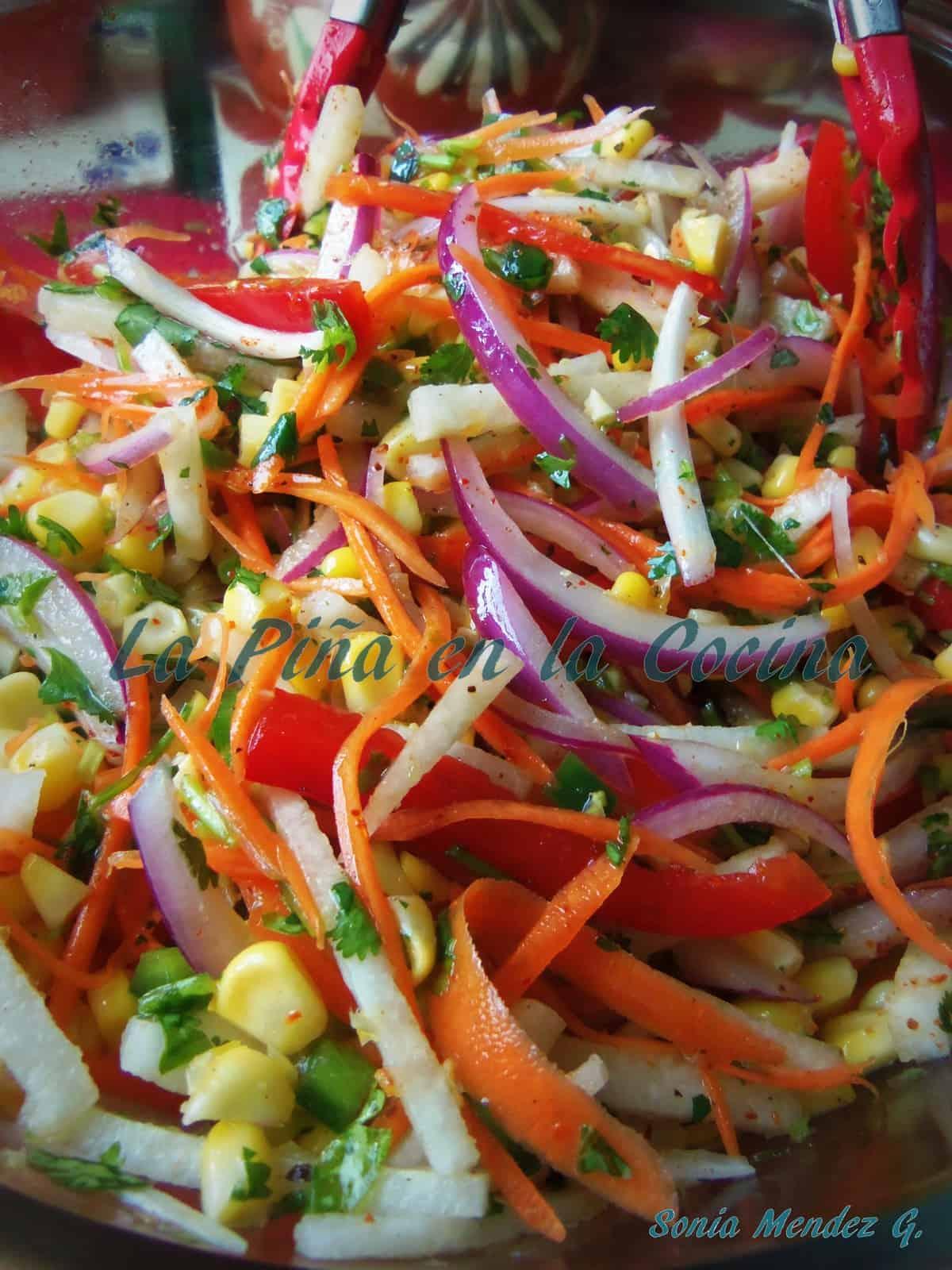 Jicama Corn Salad, the key to this salad is to use fresh corn!