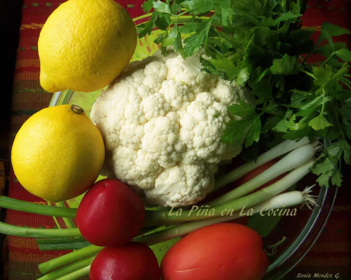 Cauliflower Tabouli Salad in the works!