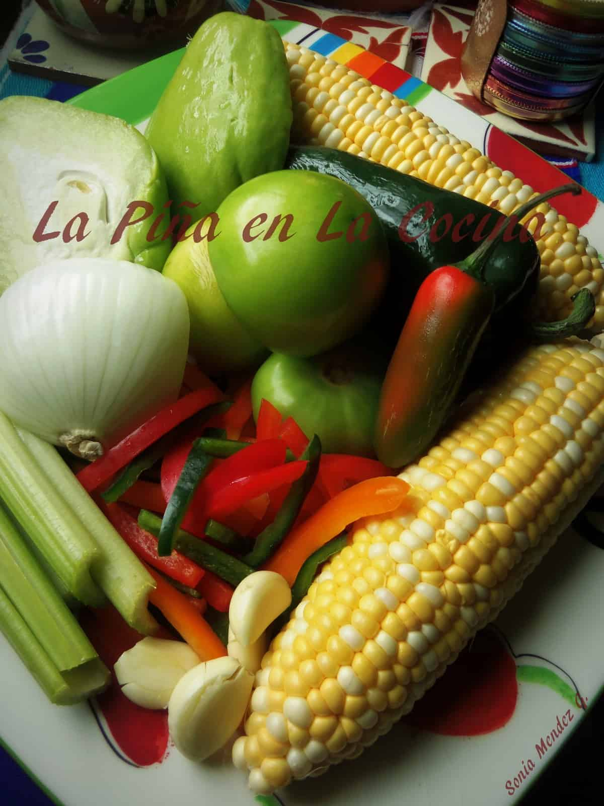 Corn, Black Bean and Chayote Succotash