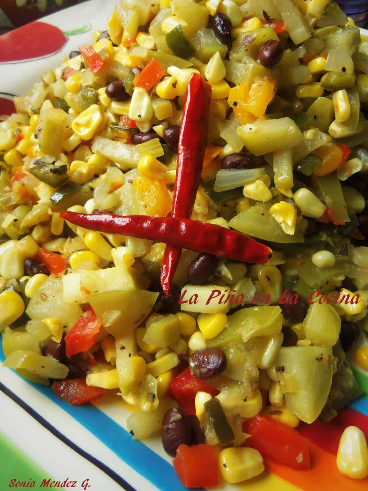Corn, Black Bean and Chayote Succotash