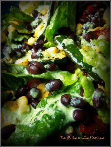 Grilled Vegetable Salad with Black Beans