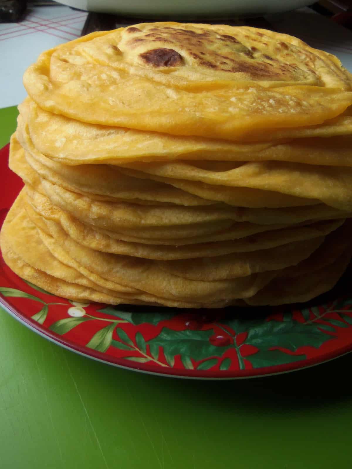 Annatto Infused Flour Tortillas