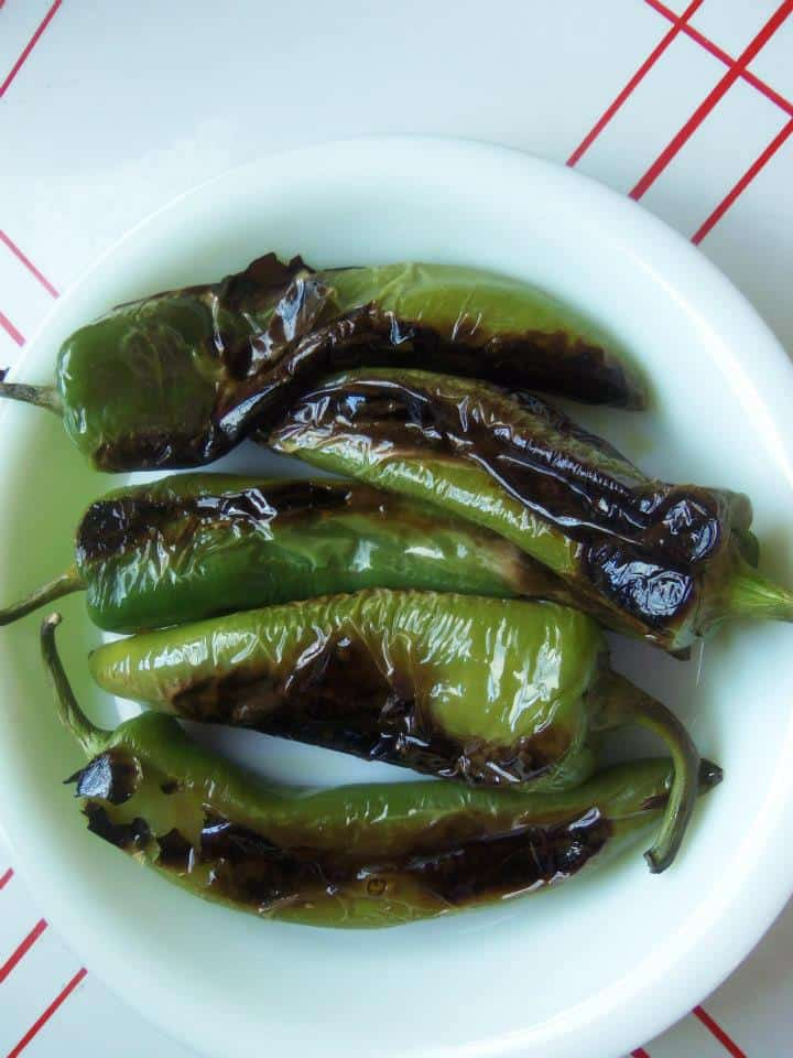 Charred Green Chiles