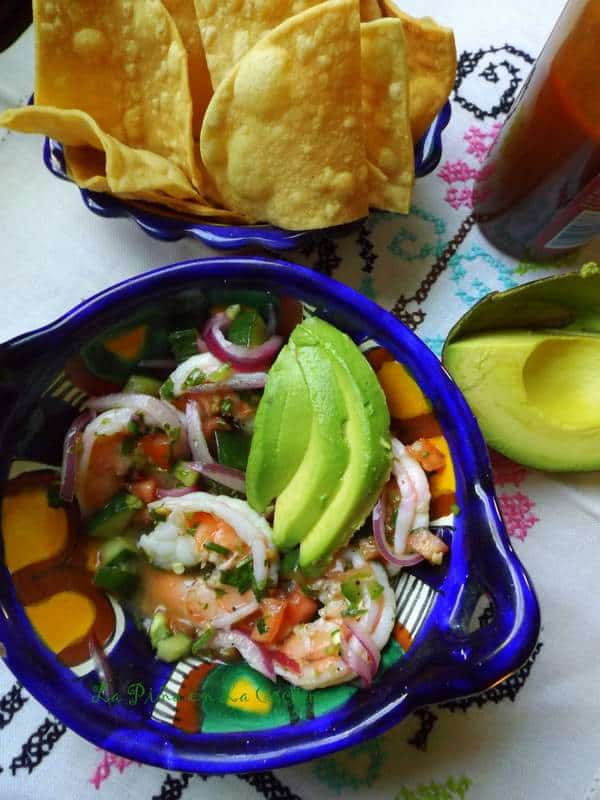 Quick and Fresh Shrimp Ceviche