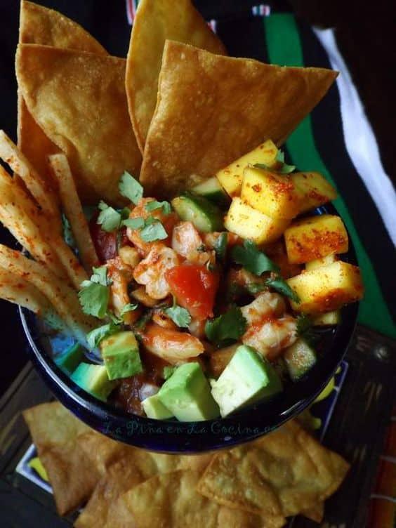 Coctel de Camarones-Mexican Shrimp Cocktail #ElPatoHot Sauce
