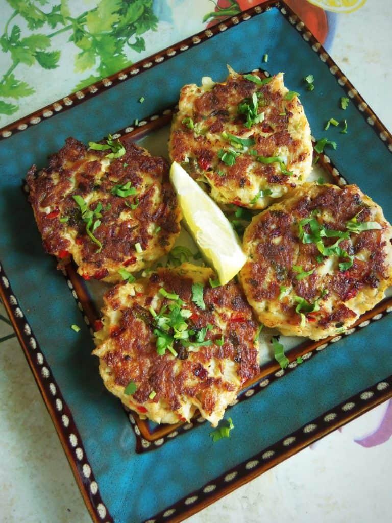 Cilantro Chile Crab Cakes