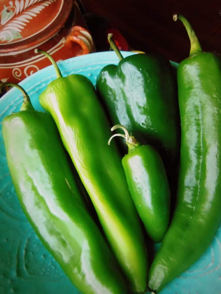 Fresh Chiles, Chilaqua, Poblano and Jalapeño