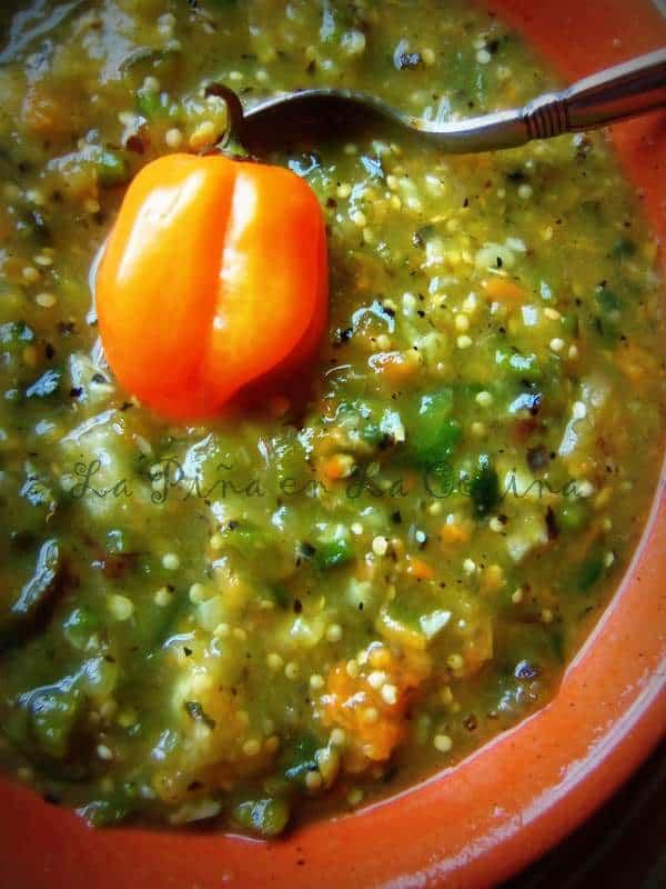Blackened Tomatillo Habanero Salsa