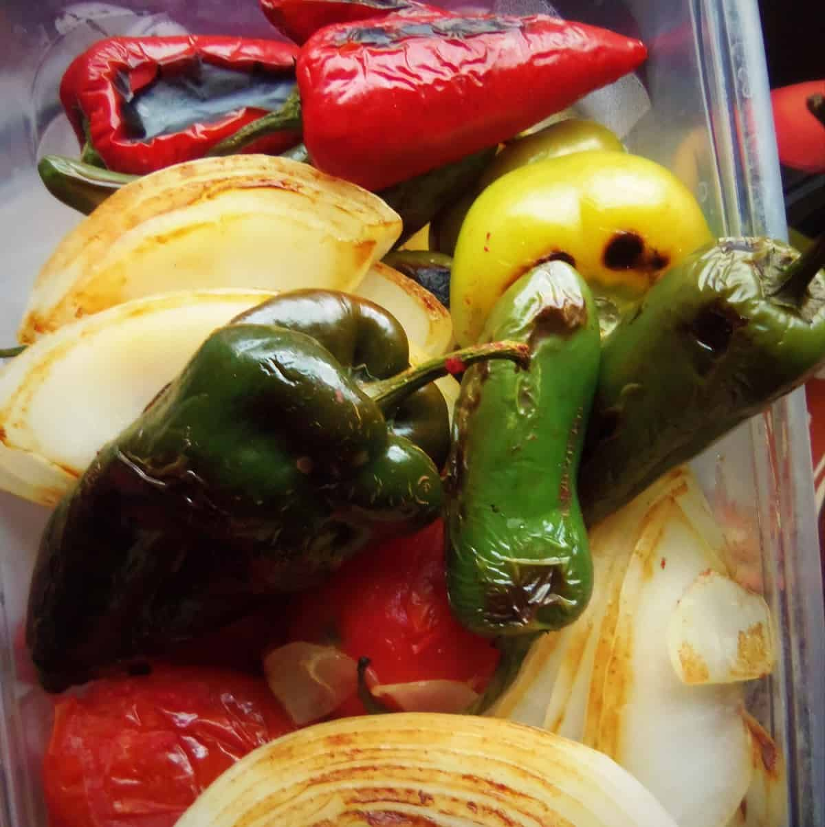 Smoked Chile Peppers, Tomatoes, Tomatillos and Onions ...