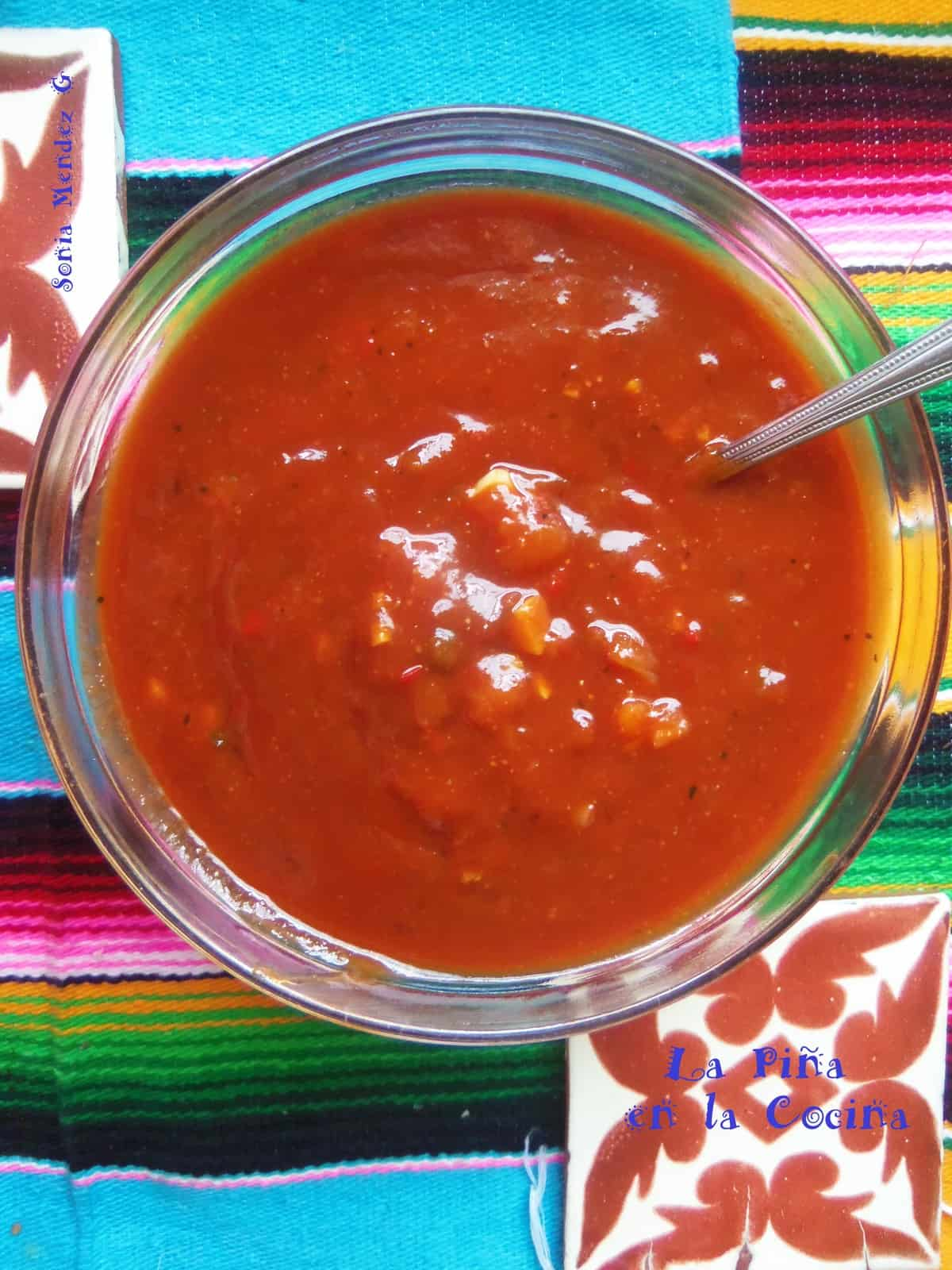 Spicy Mango Barbeque Sauce with Smoky Chipotles and Sweet Mango