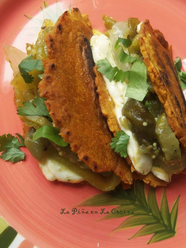 Tacos con Nopalitos en Salsa Verde With Cheese