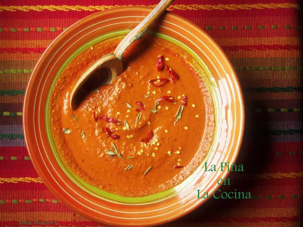 Toasted Chile Salsa with pumpkin, sesame seeds, oregano