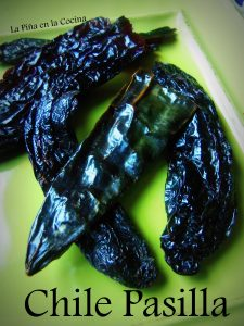 Chile Pasilla tends to be one of the darkest in color