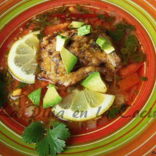 Caldo de Albondigas- Beef Soup (Tortitas de Carne Deshebrada en Caldo)