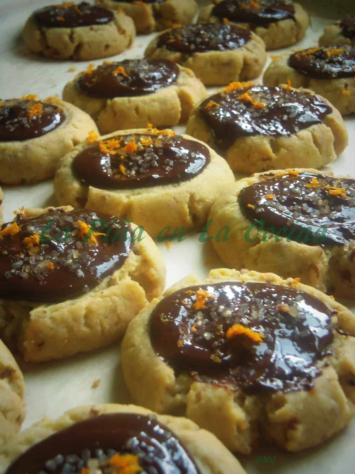Hojarascas with dark Mexican Chocolate and Orange Zest