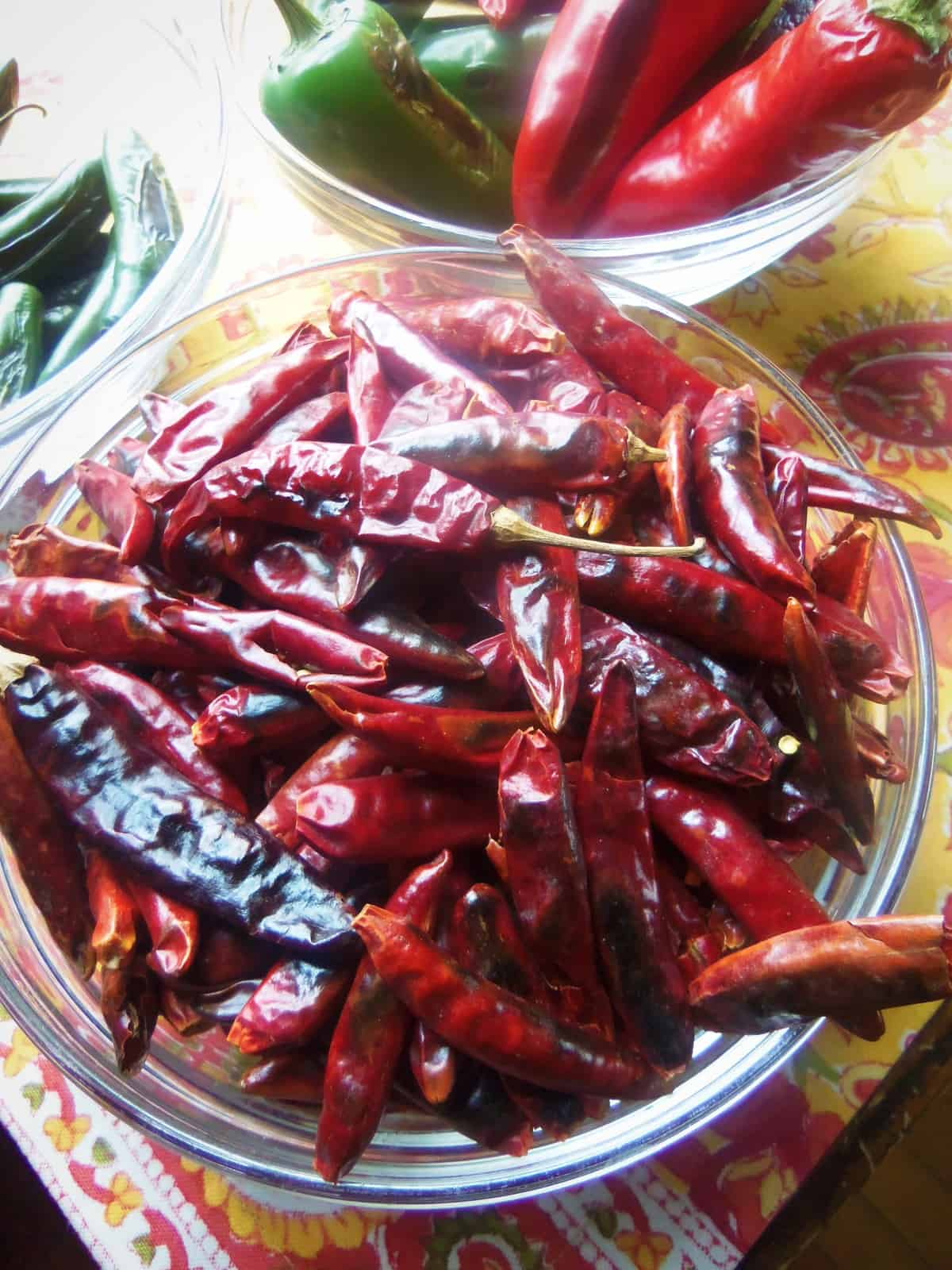 Toasting the chile de arbol adds a nice smoky flavor. They toast quickly. I remove them from the heat as soon as they become aromatic.