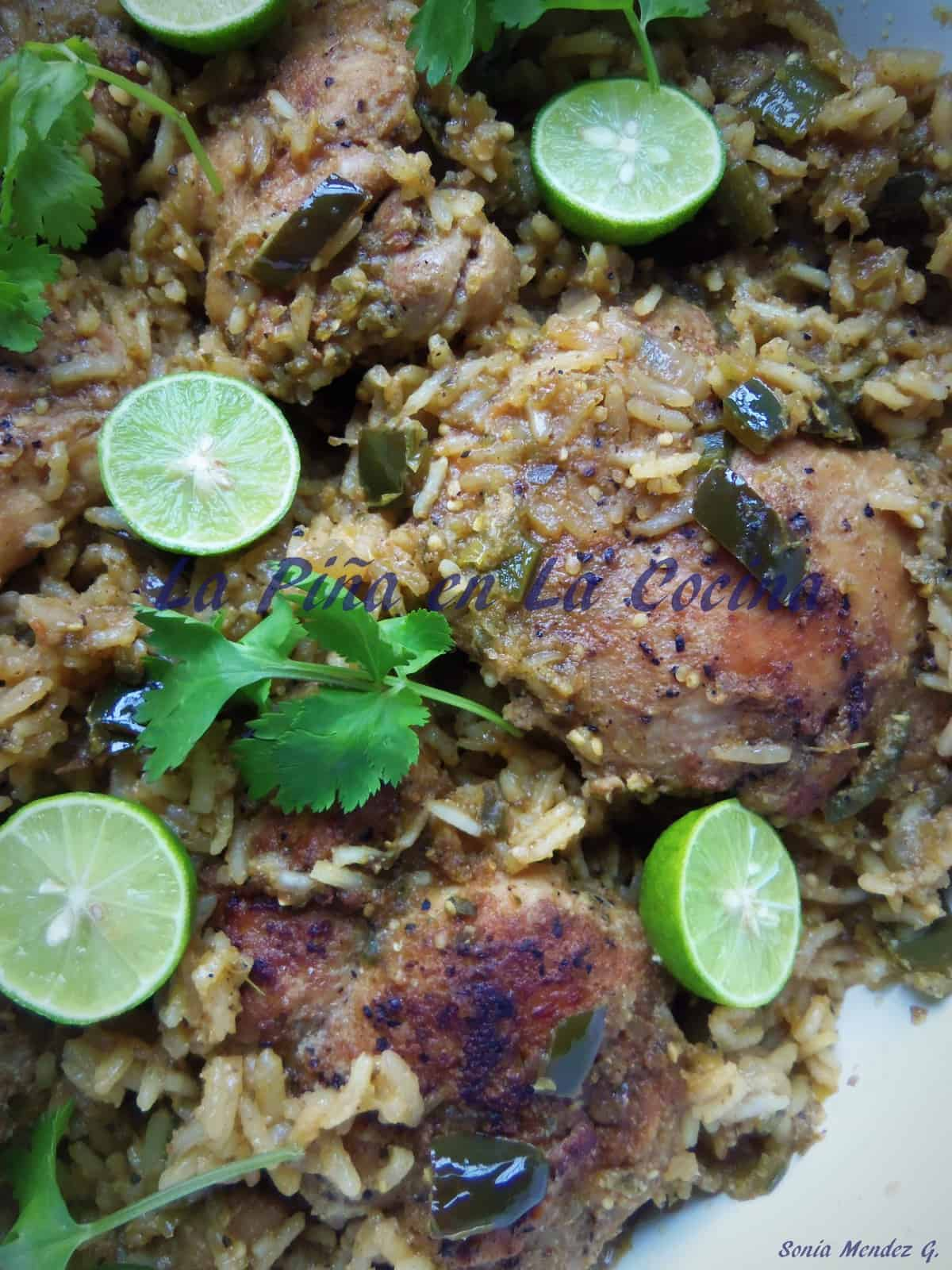 I really enjoy garnishing all my rice dishes with a little fresh lemon or lime and cilantro