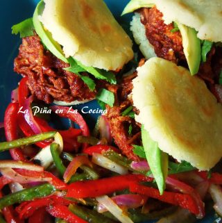 Adobo Chicken Arepas