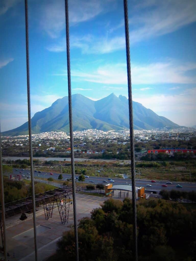 The view, way up high of el cerro at La Fundidora